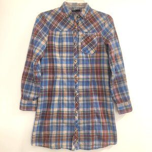 Urban Outfitters BDG Plaid Button Front Blouse